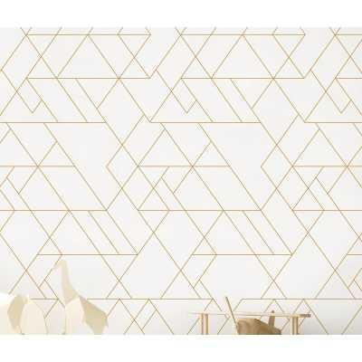 Stinchcomb Triangle Art Deco Paintable Peel and Stick Wallpaper Panel - Wayfair
