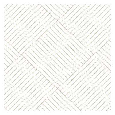 Twisted Tailor Sure Strip Wallpaper, White/Gold - York Wallcoverings