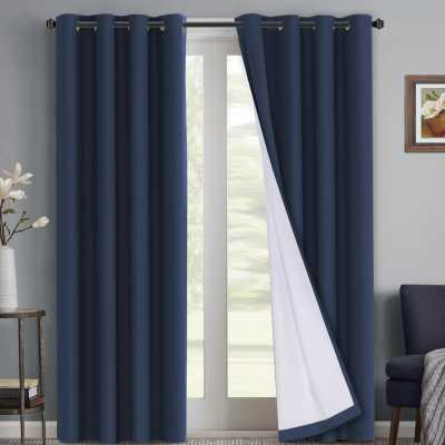 Ivybridge Waterproof Coating Solid Blackout Thermal Indoor/Outdoor Grommet Curtain Panels - Wayfair