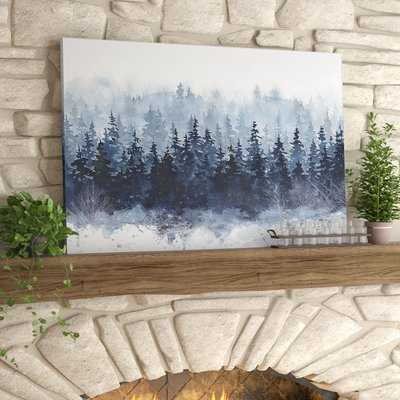 'Indigo Forest' Print - wrapped canvas - Wayfair