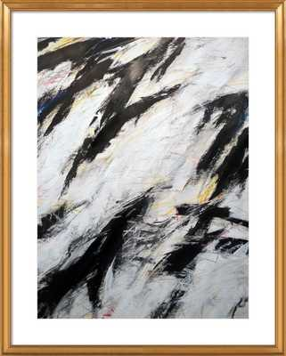 "Untitled, 3/5/12 - 28x36"" - Gold Leaf Wood Frame with Mat - Artfully Walls"