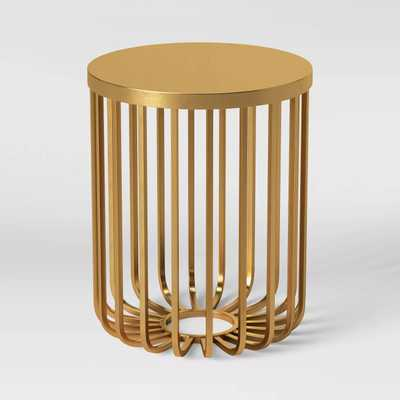Kibara Cage Accent Table Brass - Opalhouse™ - Target
