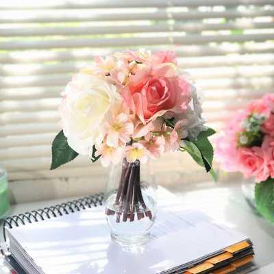Silk Mixed Floral Arrangement in Vase - Wayfair