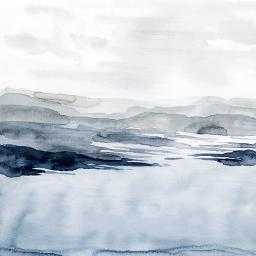 Faded Horizon I, 24''x24'' (Unframed Print) - art.com