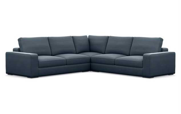 AINSLEY Corner Sectional - AEGEAN - Interior Define