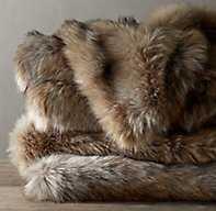 Ultimate Faux Fur Throw - RH
