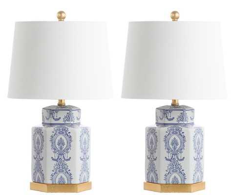 Bodin Table Lamp - Blue/White - Arlo Home - Arlo Home