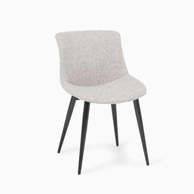 Deacon Chair, Deco Weave, Feather Gray, Antique Bronze - West Elm