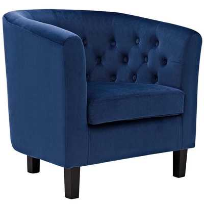 PROSPECT VELVET ARMCHAIR IN NAVY - Modway Furniture