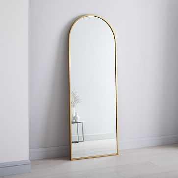 Metal Frame Mirror Arched Floor - West Elm
