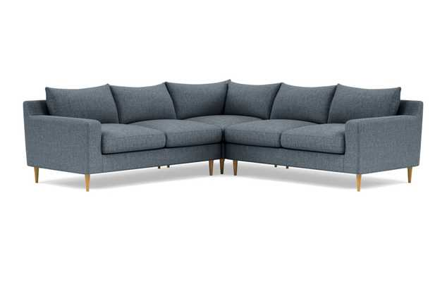 "SLOAN Corner 4-Seat Sectional Sofa - Rain - 97"" -Deep Seats - - Interior Define"