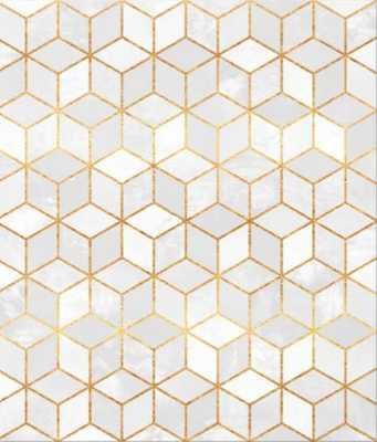 White Cubes Canvas Print - Society6