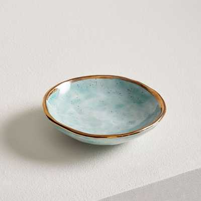 A Mano Ceramic Trinket Dish, Pool Blues - West Elm