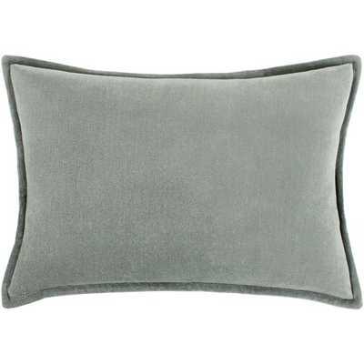 Velvet Lumbar Pillow - Sea foam - AllModern