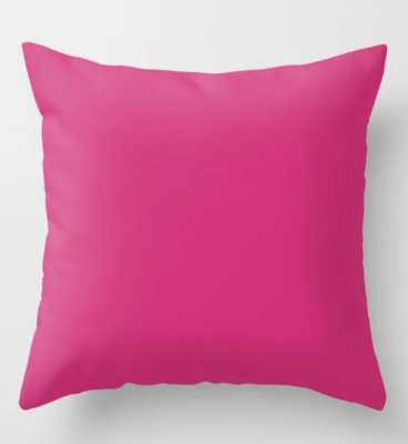 Fuchsia Pink - Solid Color Collection Throw Pillow - Society6
