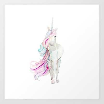 Watercolor Unicorn Art Print - Society6