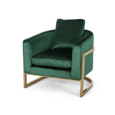 Reece Modern Velvet Glam Armchair - AllModern