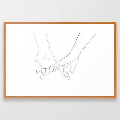 promesse Framed Art Print - Society6