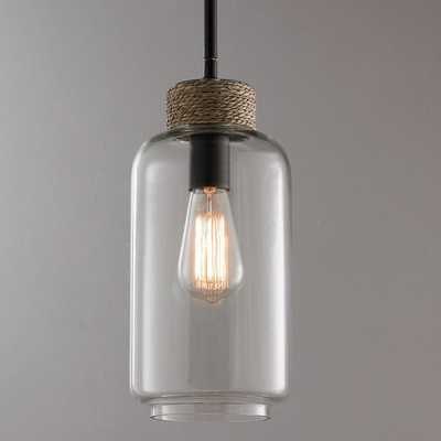 ROPED WRAPPED CLEAR GLASS PENDANT - Shades of Light