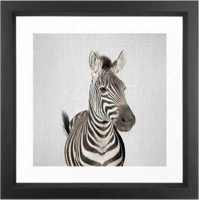 Zebra 2 - Colorful Framed Art Print  12 x 12 - Society6