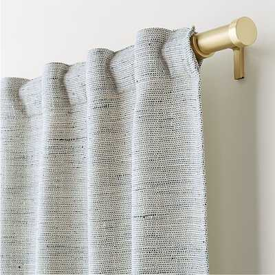 """Reid Blue 48""""x96"""" Curtain Panel - Crate and Barrel - Crate and Barrel"""