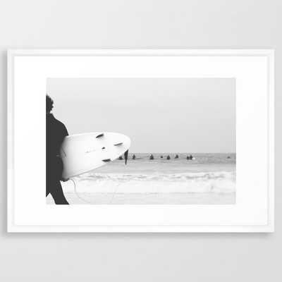 catch a wave II Framed Art Print - Society6