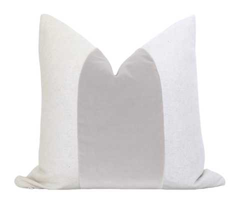 "Mezzo Pillow Cover - Stainless (Cover Only), 18""x 18"" - Willa Skye"
