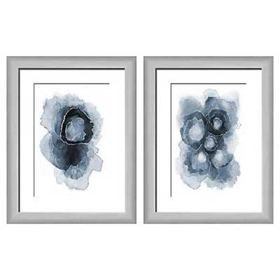 "Abstract Blues 22"" High 2-Piece Framed Giclee Wall Art Set - Lamps Plus"