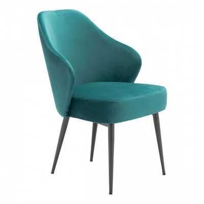 Savon Dining Chair Green Velvet - Zuri Studios