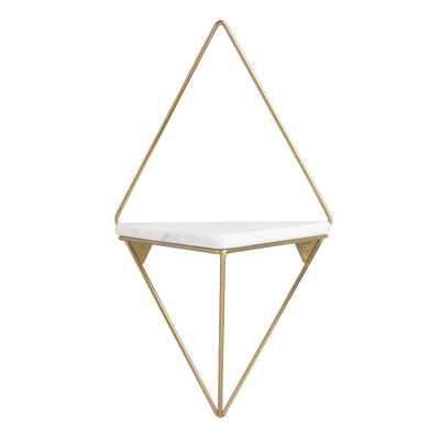 Gold Metal Diamond Wall Shelf - World Market/Cost Plus