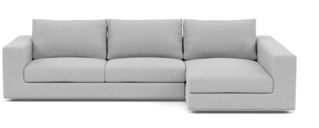 "WALTERS Sectional Sofa with Right Chaise, Ecru, 111"" - Interior Define"