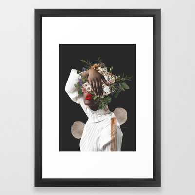Don't be Shy. Just Shine Digital Collage Framed Art Print - Society6