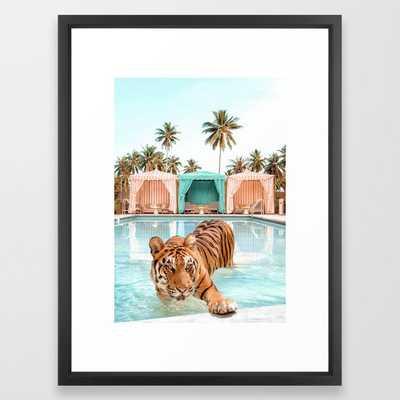 Cabana Tiger Framed Art Print - Society6