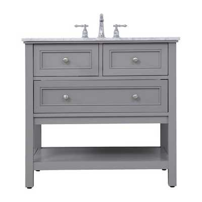 "Voss 36"" Single Bathroom Vanity Set - Wayfair"