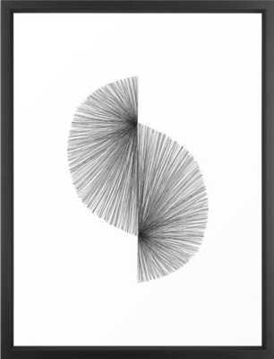Mid Century Modern Geometric Abstract S Shape Line Drawing Pattern Framed Art Print 20 s 26 - Society6
