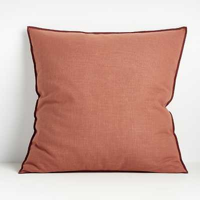 Ori Baked Clay 23? Pillow with Feather-Down Insert - Crate and Barrel