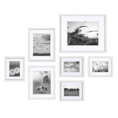 7 Piece Goin Build a Gallery Wall Picture Frame Set / White - Wayfair