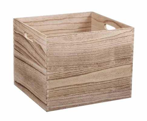Large Wood Milk Crate - Pillowfort - Target
