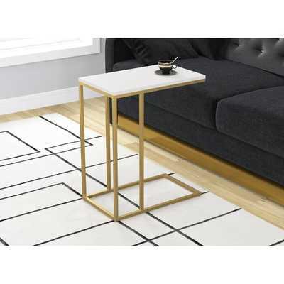 Cork Accent Metal Frame End Table - Wayfair