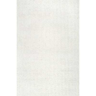 "Rectangle 7'6"" x 9'6"" Lockhart Handwoven Flatweave Ivory Area Rug - Wayfair"