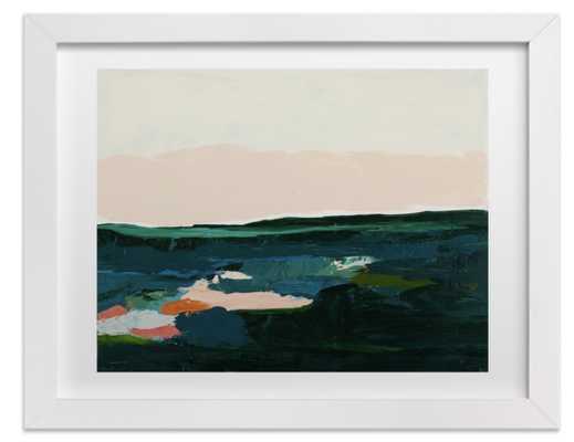 "King Tides Seascape-natural raw wood frame- standard plexi-20""x16"" - Minted"
