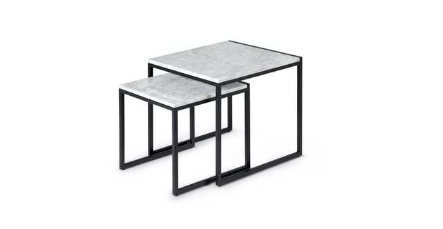 Scindo Black Nesting Table - Article