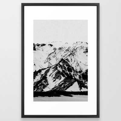 Minimalist Mountains - Vector Black - Society6