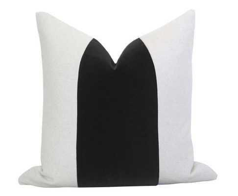 Mezzo Pillow Cover - Black - Willa Skye