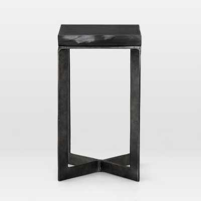 Prism End Table, Ebony Marble - West Elm
