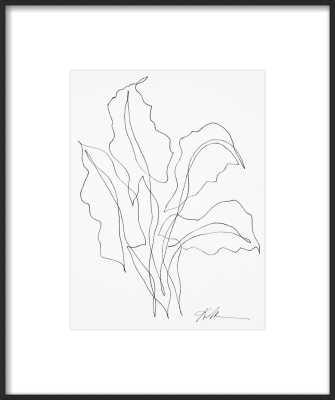 Ink Botanical 6 - 11X14; Matte Black Metal Frame with Matte - Artfully Walls