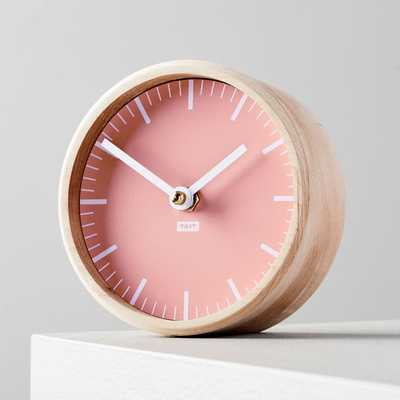 Tait Desktop Clock, Peach - West Elm