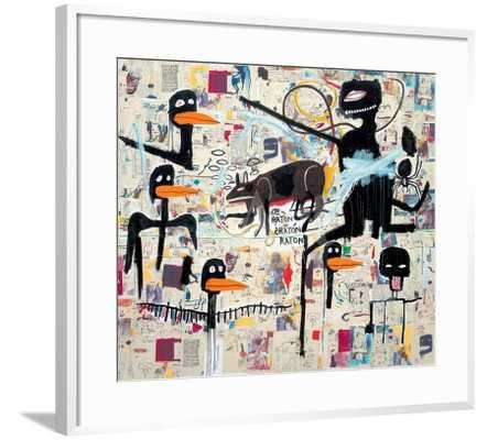 "Tenor, 1985 by Jean-Michel Basquiat 30"" x 30"" - art.com"