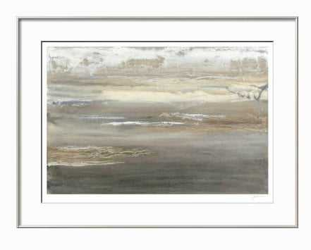"""GRAY MIST III - 30"""" x 22"""" - COVENTRY Champagne Wide frame - art.com"""