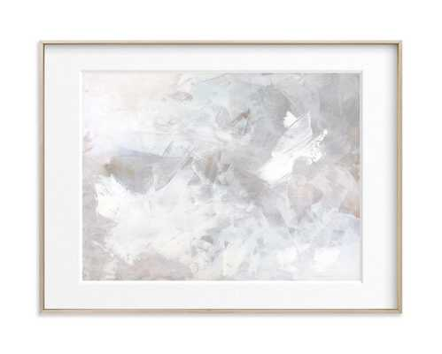 """Melody in White - 24"""" x 18"""" - Matte Brass Frame - Matted - Minted"""